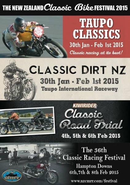 New Zealand Classic Bike Festival 2015