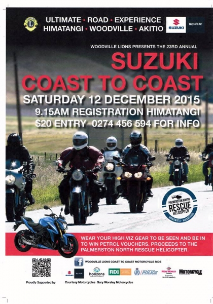2015 WOODVILLE LIONS SUZUKI COAST TO COAST