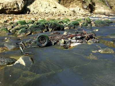 This is what happens if your vehicle gets caught in the surf