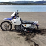 Stuck in the sand at Port Waikato Dunes