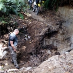 The slip on Pikowai Road