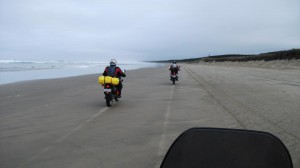 Riding up 90 Mile Beach