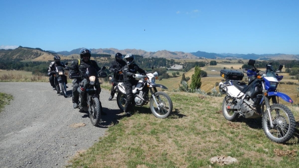 Riders stop to take in the view on Admiral Road