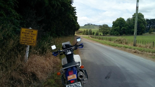 The North end of Aotearoa Road