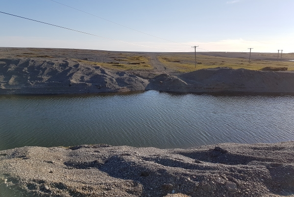 The canal at Birdlings Flat