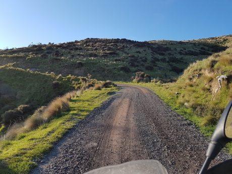 Heading up Bossu Road from Birdlings Flat