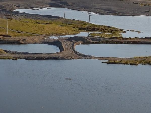 The crossing at Birdlings Flat