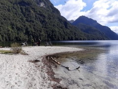 The end of Borland Road at Lake Manapouri
