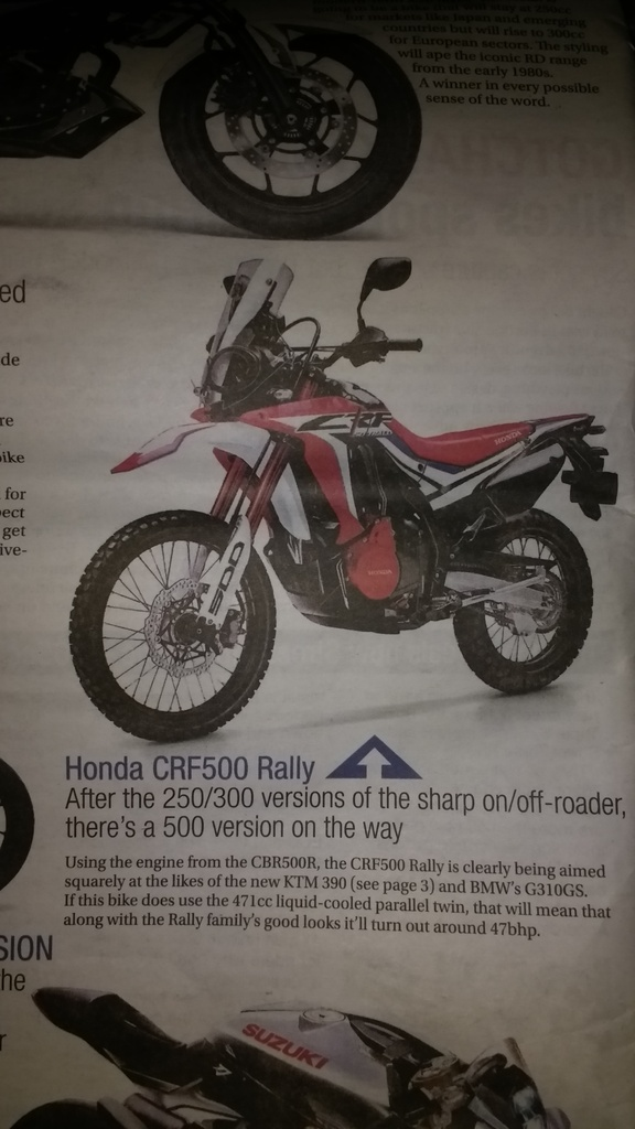 Topic Honda Crf500 Rally Twin Cylinder Adventure Riding Nz