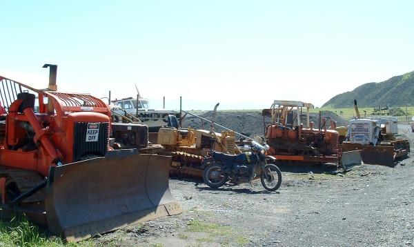 Old bulldozers at Ngawi