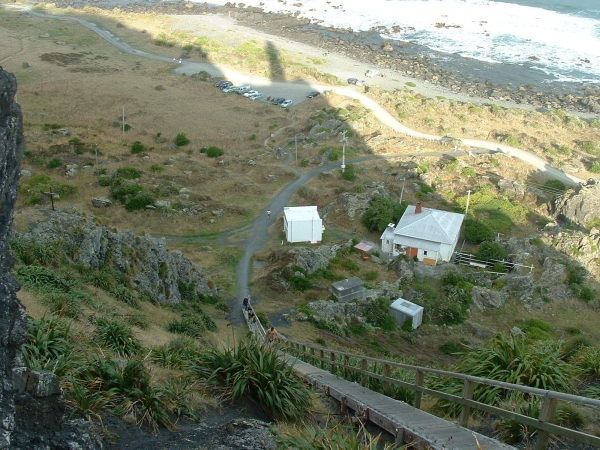 The steps down from Cape Palliser Lighthouse