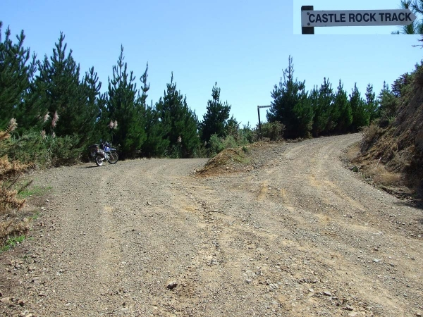 Take the right road at the fork towards Castlerock Track