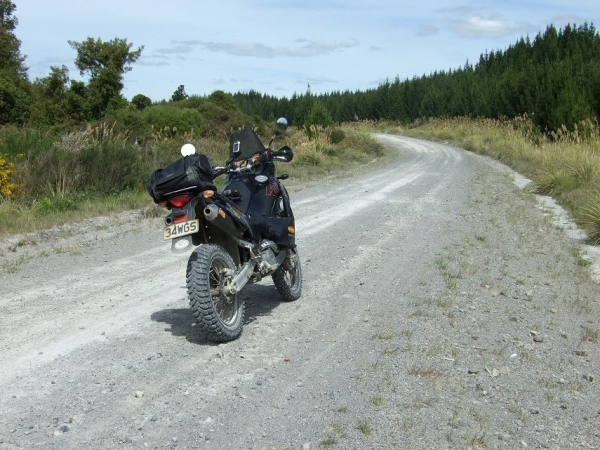 KTM 950 Adventure looking down Cecil - Leslie Roads