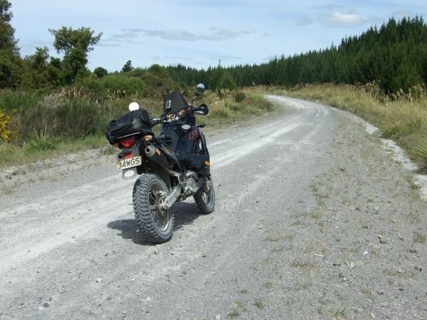 KTM 950 Adventure looking down Cecil - Leslie Roads