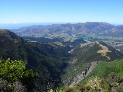 Looking back onto the Kaikoura Peninsular