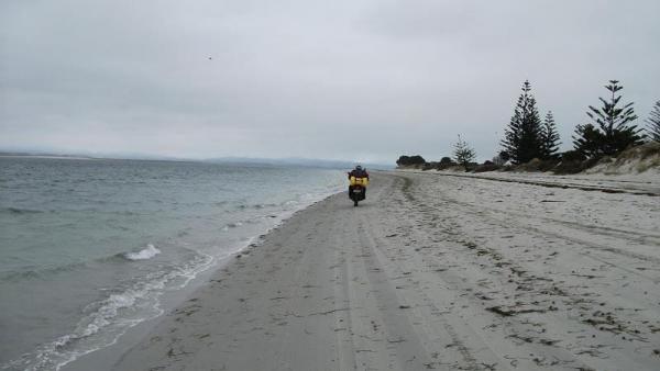 Riding along East Beach