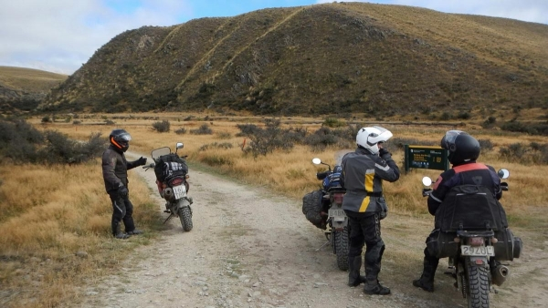 At the start of the East Manuherikia Track