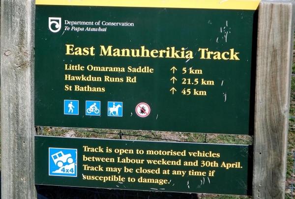 East Manuherikia Track info