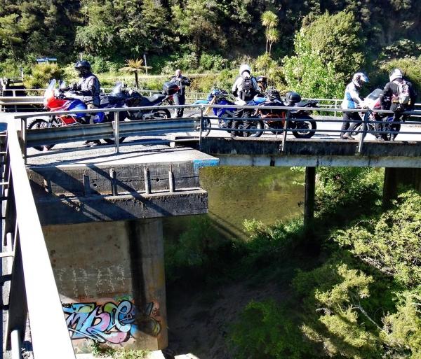 First stop at Twin Bridges, Nukutawhiti