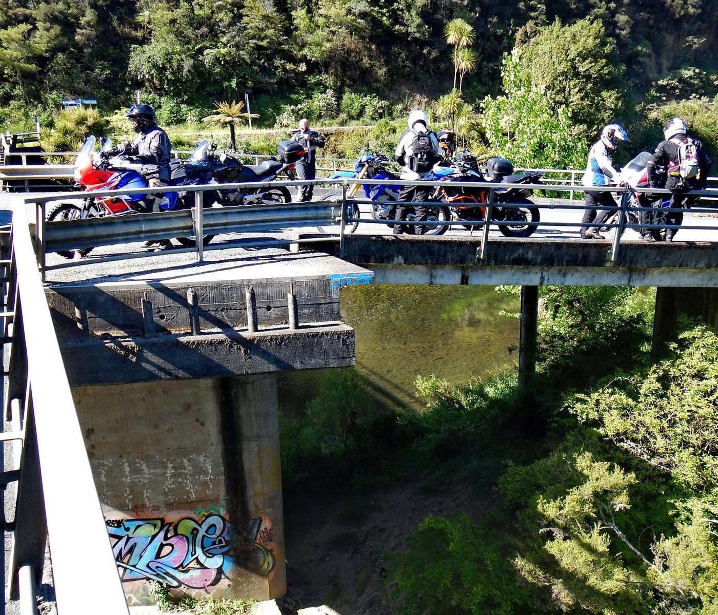 First stop at Twin Bridges, Nukutawhiti