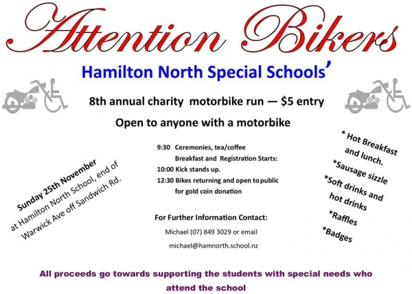Hamilton North School Charity Ride 2014