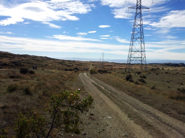 The top of Hawksburn Road