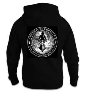 Adventure Riding NZ Unisex Hoodie with large logo on the back