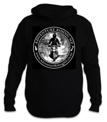 Adventure Riding NZ Unisex Hoodie with large logo on the front