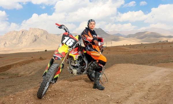 Iran Female Racer Behnaz Shafiei