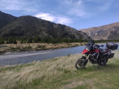 Next to the Clarence River at the Top of Jollies Pass