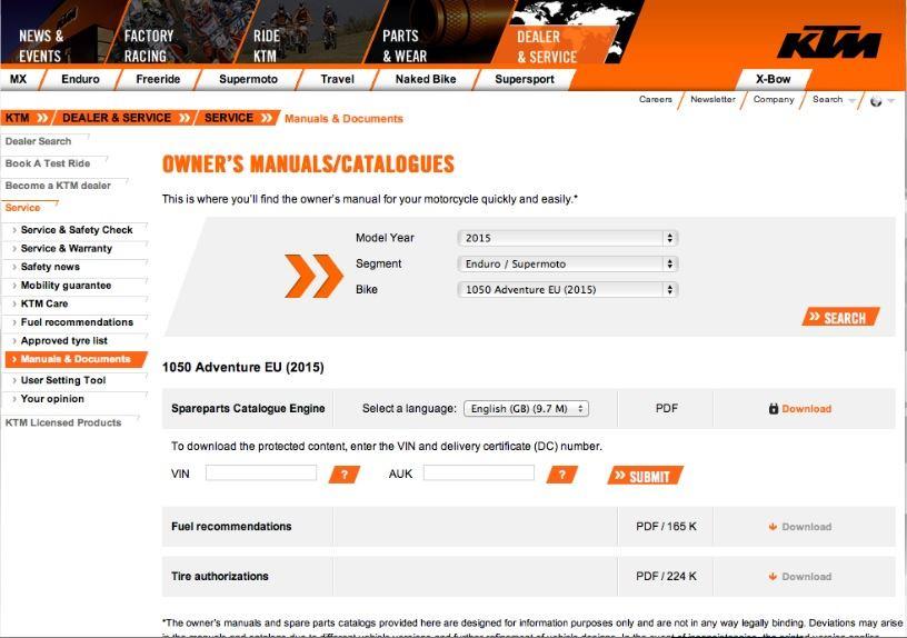 Ktm Europe Website