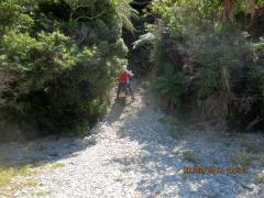 Exiting Anatori River on the way to Kahurangi Point Lighthouse