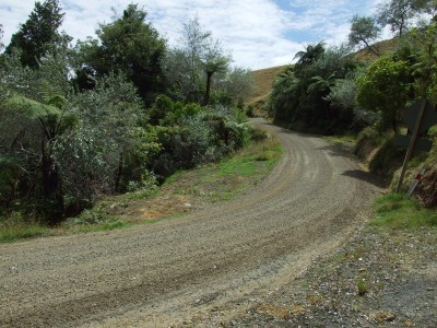 There are some steepish downhills on Kawhia Road