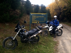 At the start of Leatham Valley