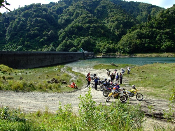 At the top dam on Mangahao Road