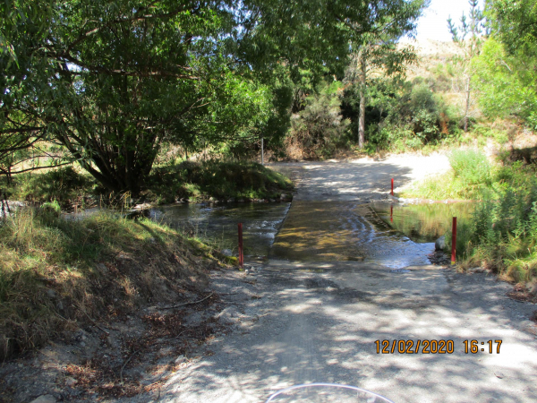 The Mangatutu ford at low level - OK to cross