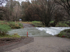The Mangatutu ford at high level - Do not attempt to cross when the ford is like this