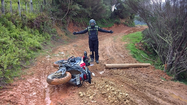 Aaron Martin's Africa Twin on Moerangi Road