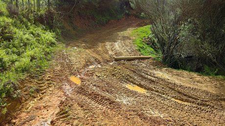 Mud on Moerangi Road
