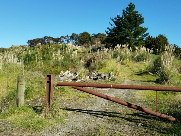 Gate at the start of Moir Hill Road
