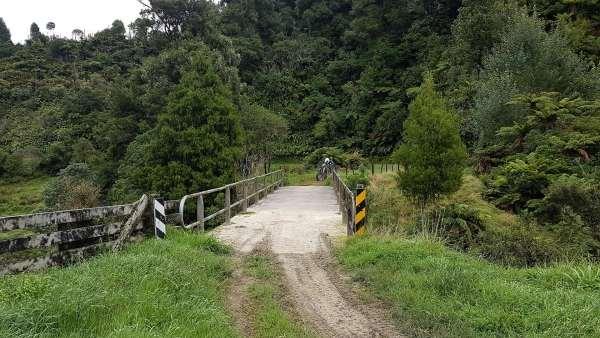 The bridge on Moki Track