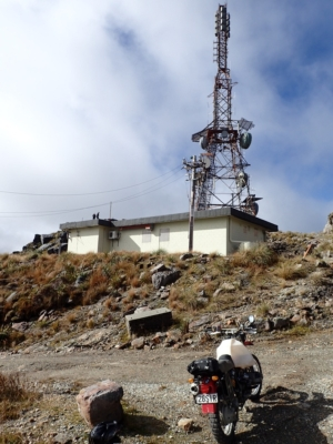 The cell tower at the summit of Mt Rochfort