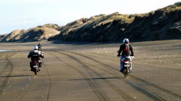 Riders on Muriwai Beach