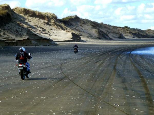 Riding Muriwai Beach