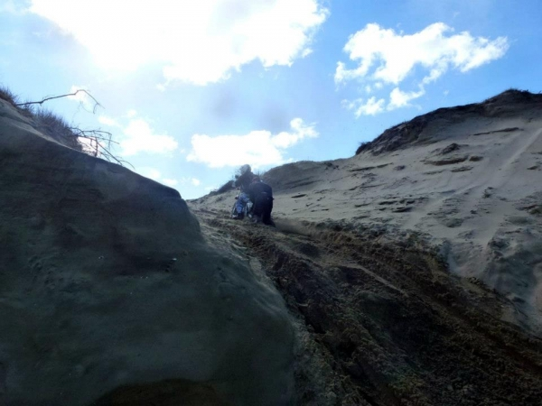 Exiting Muriwai Beach at Wilsons Road