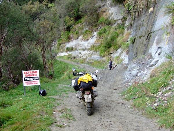 The rockfall on Old Whangamomona Road