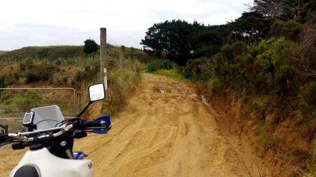 Pawanui Road turns to dirt