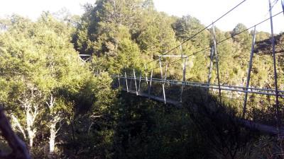 The swing bridge at the Pillars of Hercules