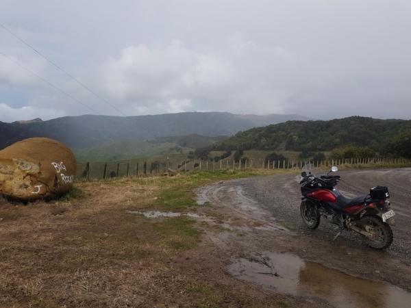 There's some big rocks on Pohukura Road