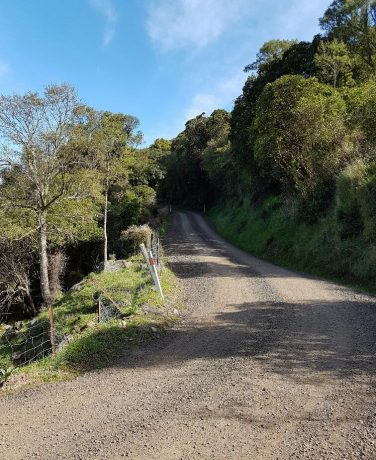 The Port Levy to Pigeon Bay road